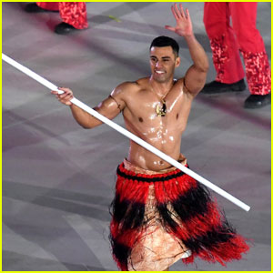 Shirtless Tonga Flag Bearer Pita Taufatofua Returns For Winter Olympics 2018!