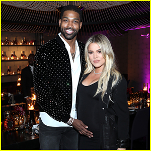 Pregnant Khloe Kardashian & Tristan Thompson Attend All-Star Weekend Dinner Party!