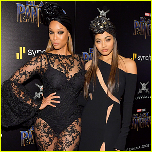 Tyra Banks & 'SI Swimsuit' Cover Star Danielle Herrington Are Twinning at 'Black Panther' Screening