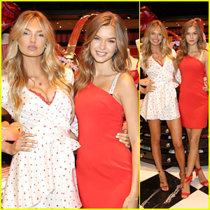 Victoria's Secret Angels Josephine Skriver & Romee Strijd Celebrate Valentine's Day Together!