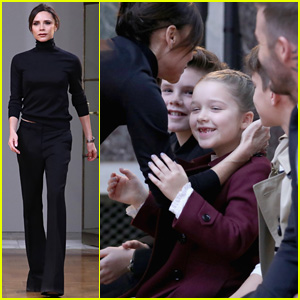 David Beckham & Kids Support Victoria Beckham at NYFW Show!