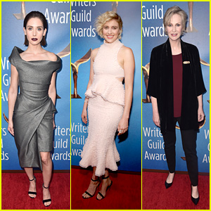 Alison Brie, Greta Gerwig, Jane Lynch & More Walk the LA Red Carpet at WGA Awards 2018!