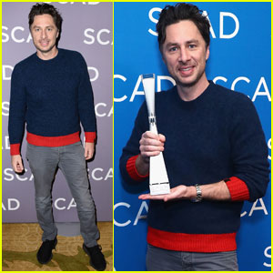 Zach Braff Takes Home Spotlight Award During SCAD aTVfest!