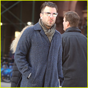 Zachary Quinto Heads Out Around the Town in New York City!