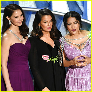Ashley Judd, Annabella Sciorra, & Salma Hayek Bring Times Up Movement to Oscars 2018 (Video)