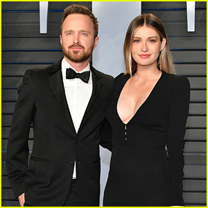 New Parents Aaron Paul & Wife Lauren Enjoy a Night Out at Oscars After Party!