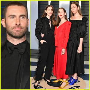Adam Levine & Haim Sisters Attend Oscars 2018 After Party!