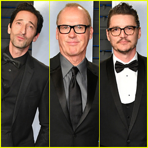 Adrien Brody, Michael Keaton & Pedro Pascal Suit Up for Vanity Fair's Oscar Party 2018!