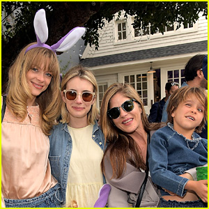 Jaime King, Emma Roberts, & Selma Blair Join In on the Easter Egg Fun!