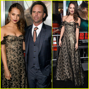 Alicia Vikander & Walton Goggins Premiere 'Tomb Raider' in Los Angeles