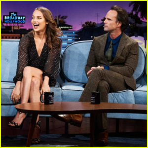 Alicia Vikander & Walton Goggins Play Tomb Raider-Themed Games on 'Late Late Show'