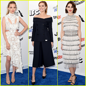 Amanda Seyfried, Zoey Deutch, & Alison Brie Present at Spirit Awards 2018