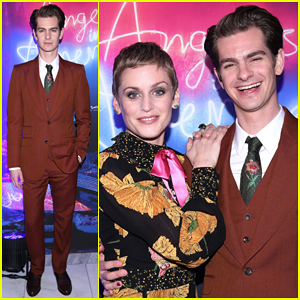 Andrew Garfield Celebrates 'Angels In America' Opening Night with Broadway Cast!