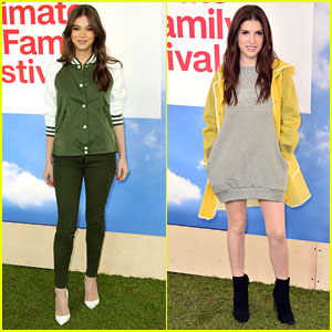Anna Kendrick & Hailee Steinfeld Have Fun at Hunter for Target Ultimate Family Festival