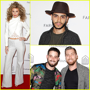 AnnaLynne McCord, Mena Massoud & Lance Bass Step Out for Farmhouse L.A. Grand Opening!