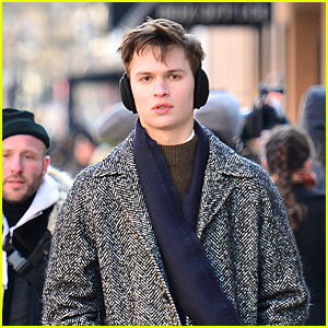 Ansel Elgort Bundles Up While Leaving the Set of 'The Goldfinch'