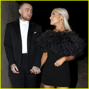 Ariana Grande & Boyfriend Mac Miller Attend Madonna's Oscars Party