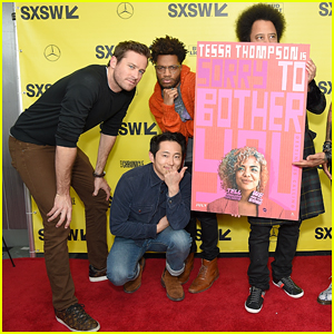 Armie Hammer & Steven Yeun Premiere 'Sorry to Bother You' at SXSW Festival!