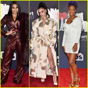 Ashanti, Kehlani & Justine Skye Arrive at iHeartRadio Music Awards 2018