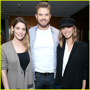 Ashley Greene Hangs Out with Kellan Lutz & His Wife at Pre-Oscars Style Lounge