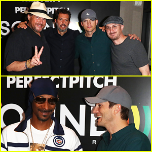 Ashton Kutcher Celebrates Sound Ventures Finalists with Snoop Dogg!