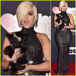 Bebe Rexha & Nominee Bear Rexha Look Chic at iHeartRadio Awards 2018!