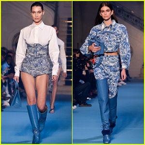 Bella Hadid & Kaia Gerber Wear Blues for Off-White Show