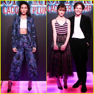 Bella Hadid, Natalia Dyer & Charlie Heaton Celebrate Dior Addict Lacquer Plump Launch!