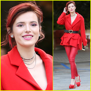 Bella Thorne Goes Red Hot for a Meeting in Beverly Hills!