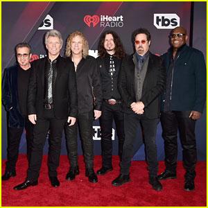 Bon Jovi Arrive at iHeartRadio Music Awards Ahead of Performance