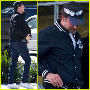 Leonardo DiCaprio & Bradley Cooper Meet Up For Business Lunch