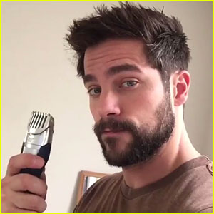Fifty Shades' Brant Daugherty Takes Fans Inside His Beard Trimming Process