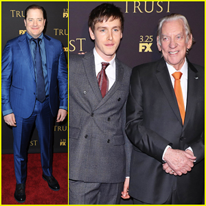 Brendan Fraser, Harris Dickinson & Donald Sutherland Hit NYC for 'Trust' Premiere - Watch Trailer!