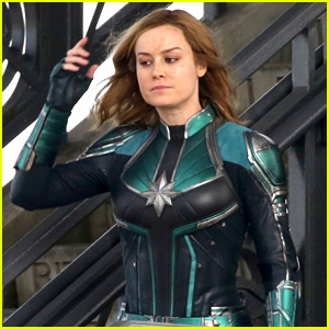 Brie Larson Suits Up as 'Captain Marvel' in New Set Photos