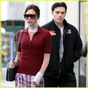 Victoria Beckham Arrives Crutch-Free in NYC to Celebrate Son Brooklyn's Birthday