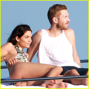 Calvin Harris & On-Again Girlfriend Aarika Wolf Soak Up the Sun in Mexico!
