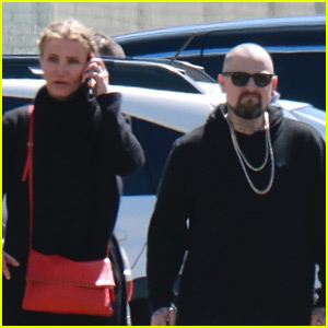 Cameron Diaz & Benji Madden Head to a Party in LA