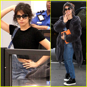 Camila Cabello Strikes a Pose Going Through Airport Security!