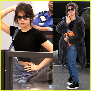 Camila Cabello Strikes a Pose Going Through Airport Security!