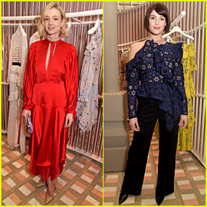 Carey Mulligan & Gemma Arterton Attend Self-Portrait Store Opening in London