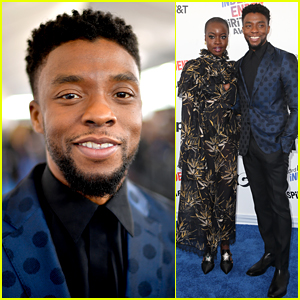 Chadwick Boseman & Danai Gurira Rep 'Black Panther' at Spirit Awards 2018