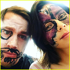 Channing Tatum & Jenna Dewan Tatum Let Daughter Everly Hold Them Down & Paint Their Faces!