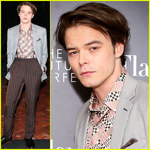 Stranger Things' Charlie Heaton Puts His Classic Style on Display at Fendi Event