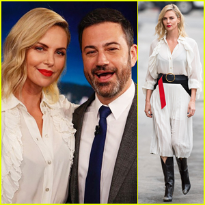 Charlize Theron Explains on 'Jimmy Kimmel' How Her Mom Became Her Weed Dealer