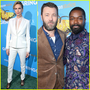 Charlize Theron, Joel Edgerton, & David Oyelowo Suit Up for 'Gringo' Premiere