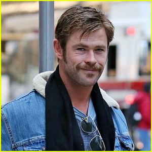 Chris Hemsworth Is Rocking a Mustache in Vancouver