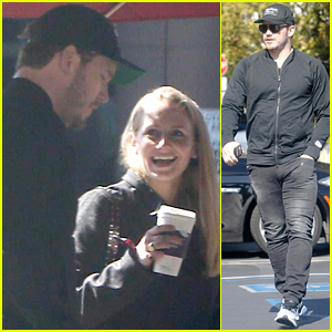 Chris Pratt Grabs Coffee with a Mystery Blonde Woman