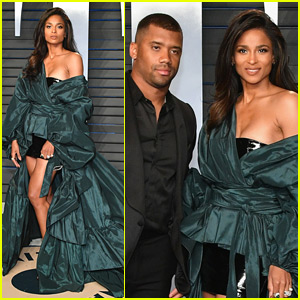 Ciara & Russell Wilson Go High Fashion for Vanity Fair's Oscars Party!