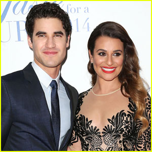 Darren Criss Trolls Lea Michele Over Theory She Can't Read or Write