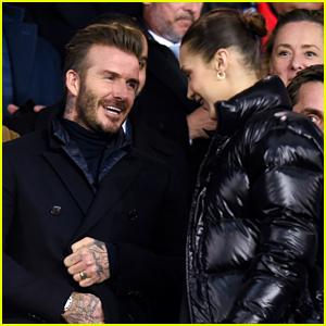David Beckham Sits Next to Bella Hadid at Soccer Game